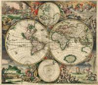 Mapa svijeta iz 1689 godine - izradio Gerard van Schagen